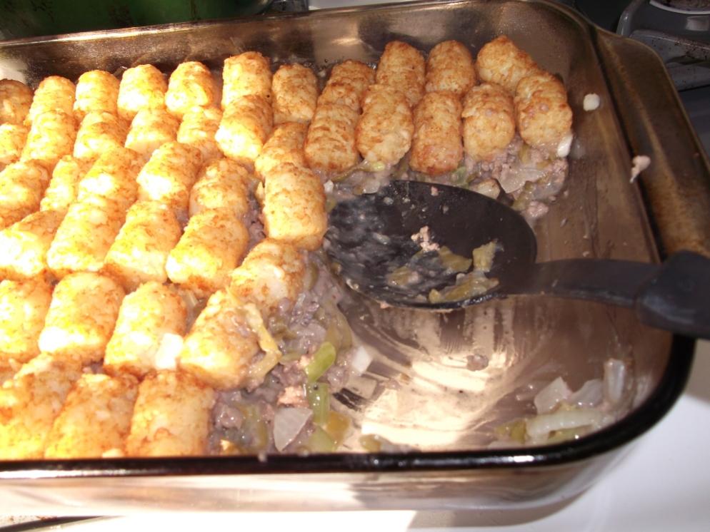 tatertot dish from Dianesfoodblog