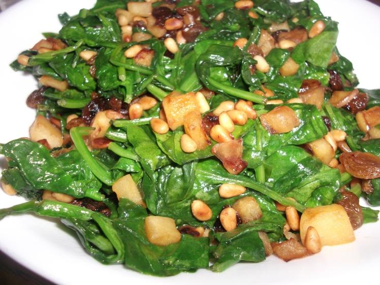 Catalan Spinach