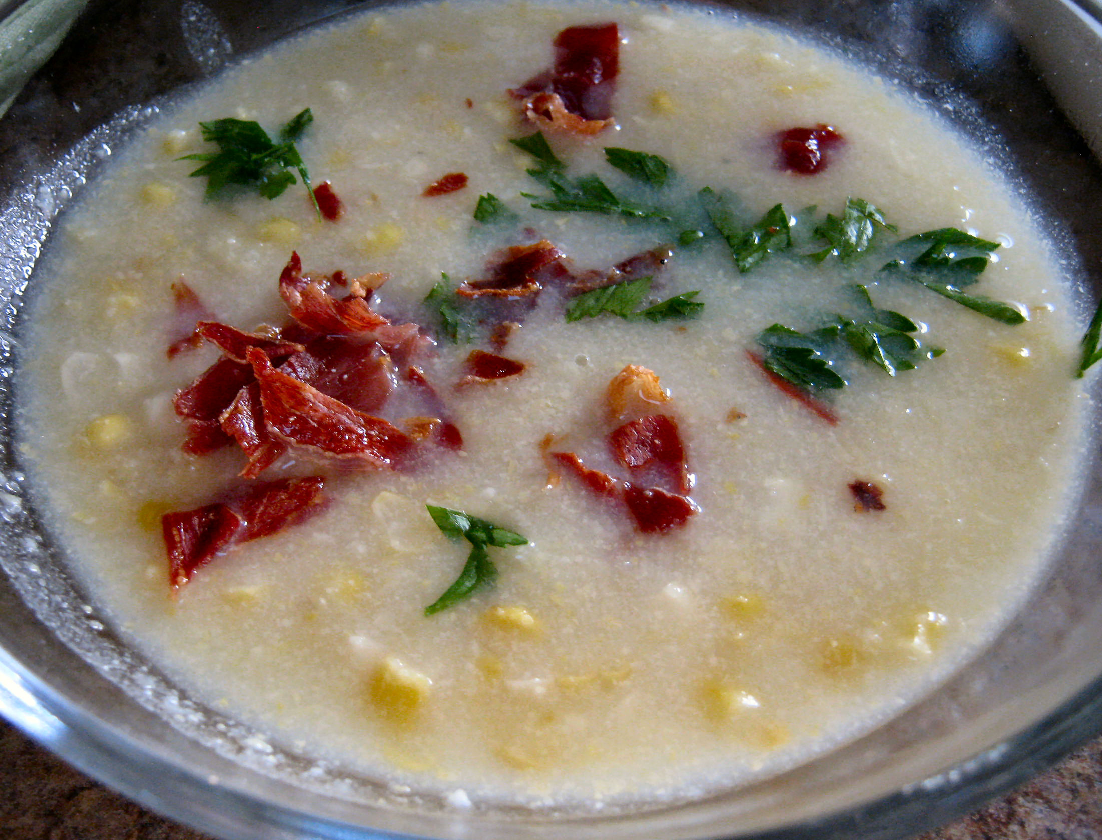 corn and potato soup with sautéed shrimp slow cooker soups summer ...