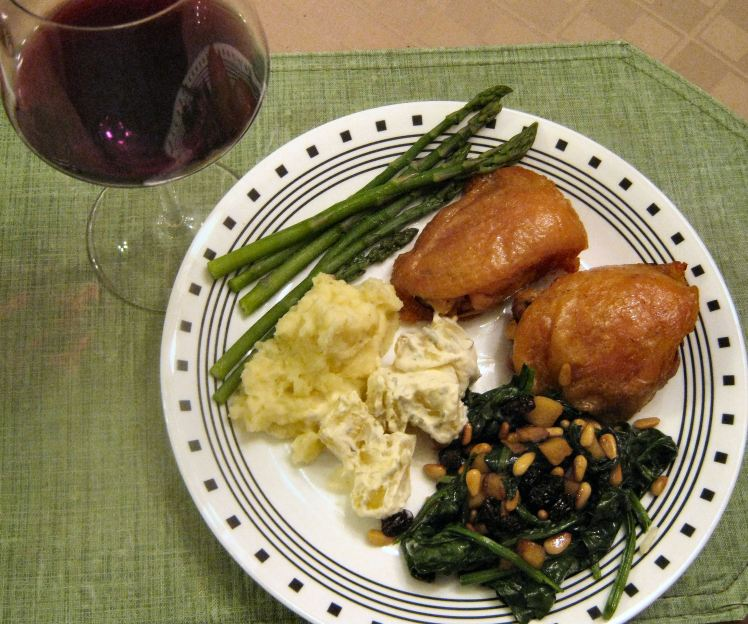 Chicken Confit dinner