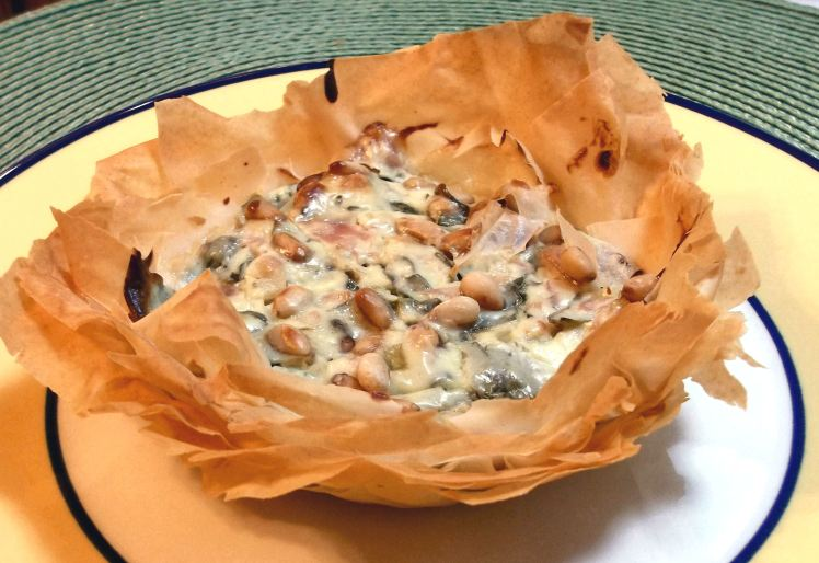 Phyllo Ham and Bleu Cheese Tart