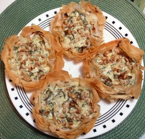 Ann's Phyllo Blue Cheese Tart 074