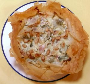 Ann's Phyllo Blue Cheese Tart