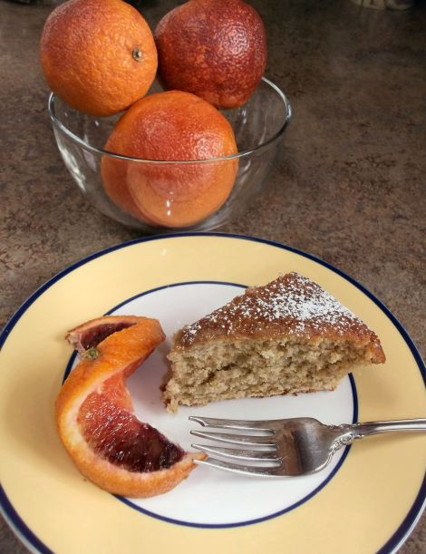 Italian Blood Orange Olive Oil Breakfast Cake | Diane's Food Blog