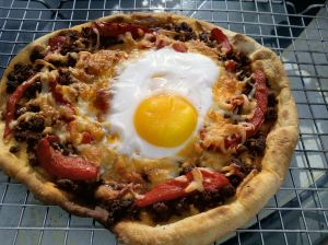 Chorizo Egg Pizza 47