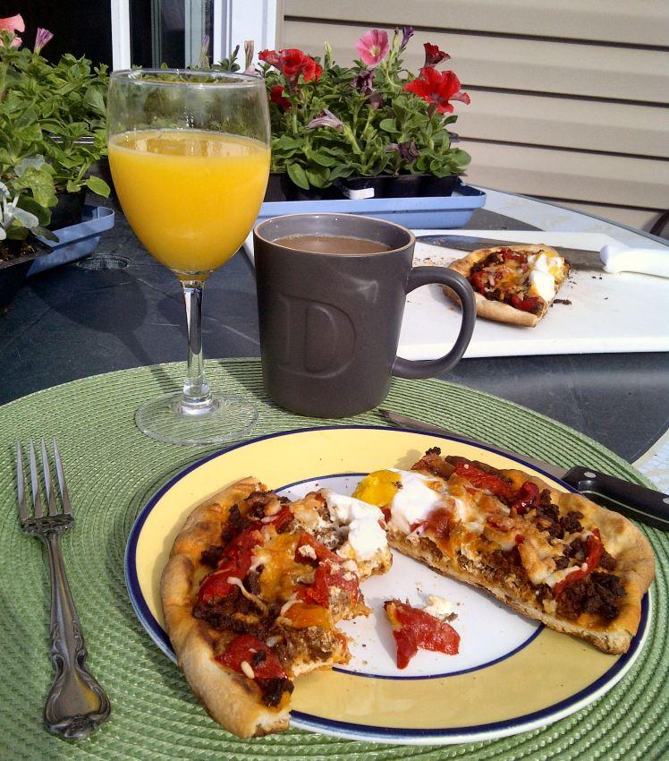 Chorizo and Egg Breakfast Pizza