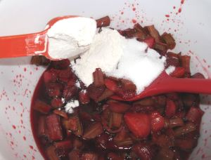 Strawberry Rhubarb Crisp 026