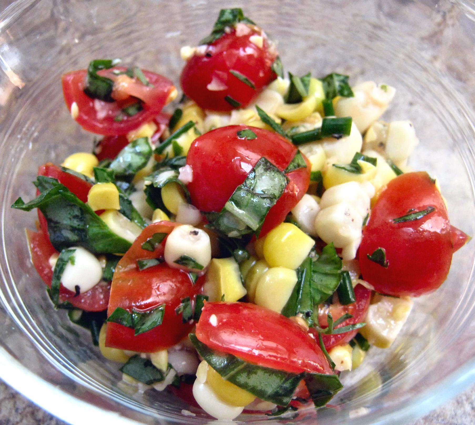 Fresh Summer Corn and Tomato Salad | Diane's Food Blog