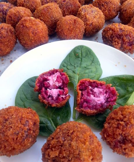 Beet and goat cheese arancini-cover