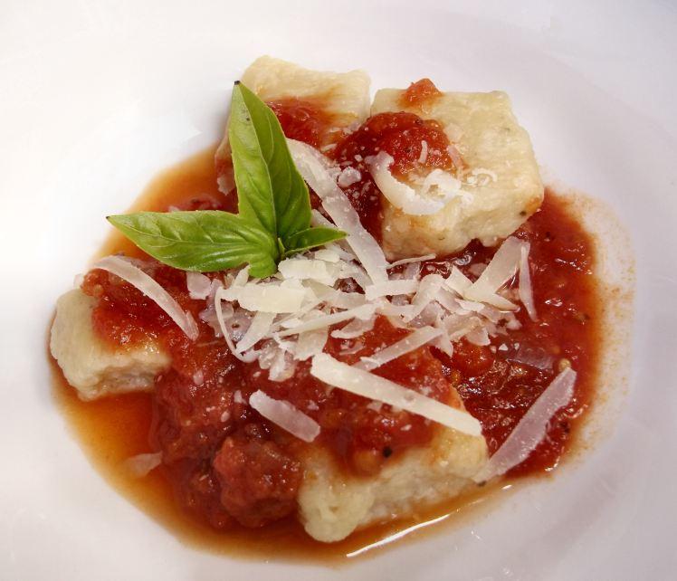 Ricotta gnocchi with marinara