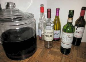 Vinegar wine bottles