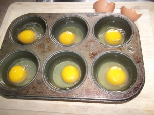 Poached eggs in oven 004