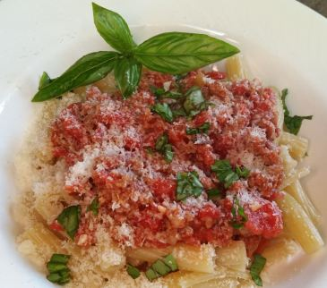Carmela Soprano's Rigatoni with Sausage and Tomato Sauce