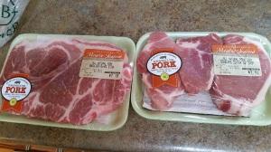Pork shoulder, pork loin