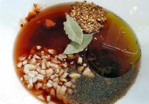 Garlic and wine marinade