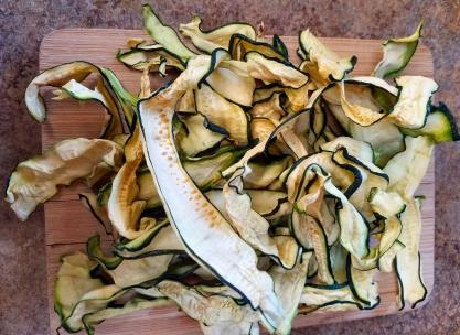 Oven dried zucchini